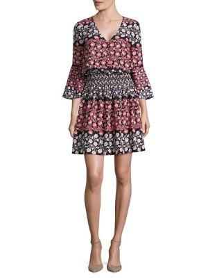 Floral Blouson Dress by Eliza J