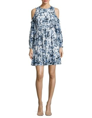 Ruffled Cold Shoulder Dress by Tahari Arthur S. Levine