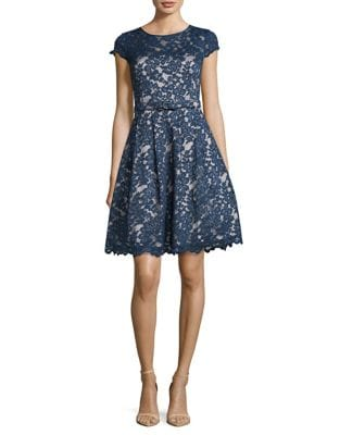 Lace Embroidered Fit-&-Flare Dress by Eliza J