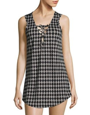 Lace-Up Cover-Up Tunic by J Valdi