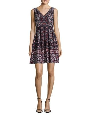 Sleeveless Fit & Flare Dress by Vince Camuto