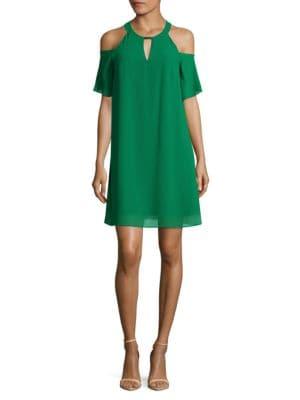 Photo of Cold Shoulder Mini Dress by Vince Camuto - shop Vince Camuto dresses sales