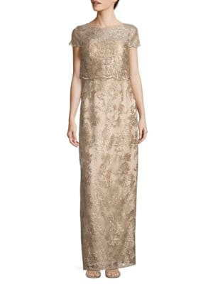 Photo of Adrianna Papell Pop Over Embroidered Dress