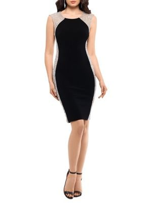 Beaded Sheath Dress by Xscape