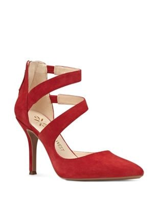 Florent Pointed Toe Suede Dress Pumps by Nine West