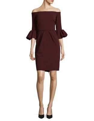 Crepe Off-the-Shoulder Dress by Betsy & Adam
