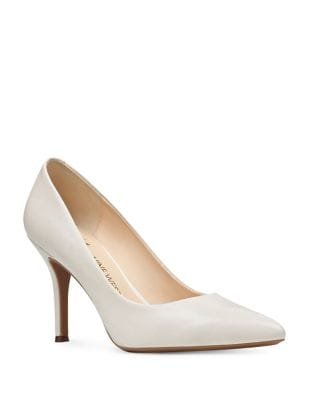 Leather Pointed Toe Pumps by Nine West