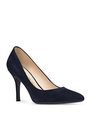 Suede Pointed Toe Pumps by Nine West