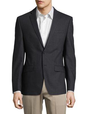 Grid Wool Suit Jacket...
