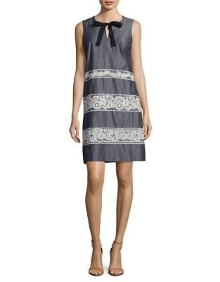 Floral Lace Pattern Dress by Karl Lagerfeld Paris