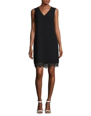 Crepe Sleeveless Shift Dress by Karl Lagerfeld Paris