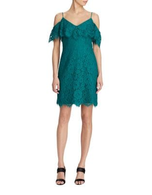 Ruffled Lace Sheath Dress by Lauren Ralph Lauren