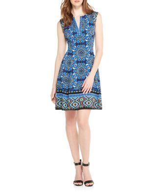 Geometric A-Line Dress by Maggy London