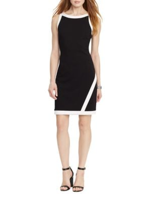Colorblock Sheath Dress by Nue By Shani