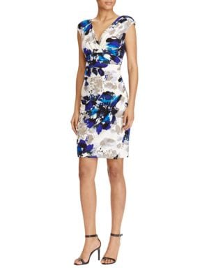 Petite Floral Jersey Sheath Dress by Lauren Ralph Lauren