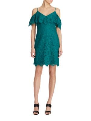 Ruffled Lace Sheath Dress by Lauren Ralph Lauren