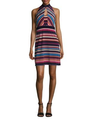 Printed Stripe Shift Dress by Laundry by Shelli Segal