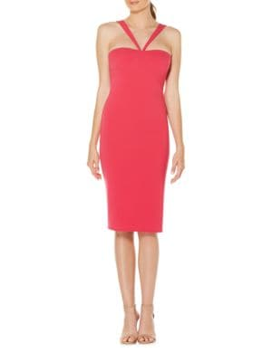 Crepe Halter Shift Dress by Laundry by Shelli Segal