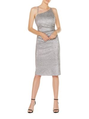 Metallic Asymmetric Dress by Laundry by Shelli Segal