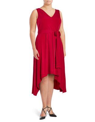 Asymmetrical Crisscross Dress by Vince Camuto Plus
