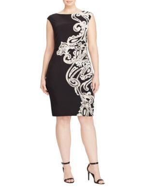 Paisley Print Jersey Dress by Lauren Ralph Lauren