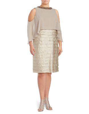 Plus Sandollar Sheath Dress by London Times