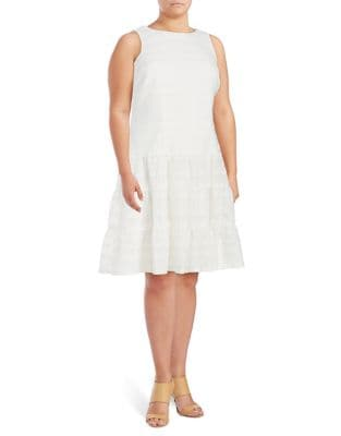 Plus Lace Fit-&-Flare Dress by London Times