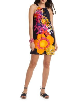 Floral Halterneck Dress by Trina Turk
