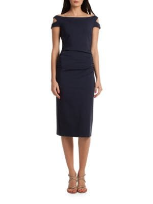 Off the Shoulder Enliven Sheath Dress by Trina Turk