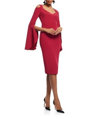 Bell-Sleeve Knee-Length Dress by Theia