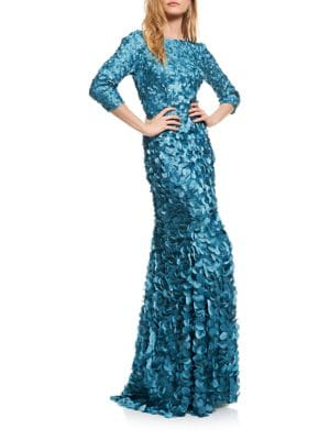 Sequined Floor-Length Gown by Theia
