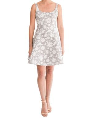 Layla Daisy Fit and Flare Dress by Paper Crown