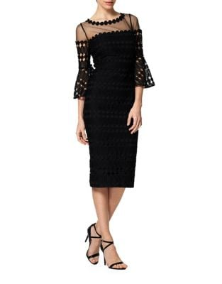 Embroidered Lace Sheath Dress by Kay Unger