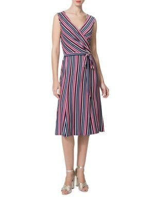 Stripe Knee-Length Dress by Donna Morgan