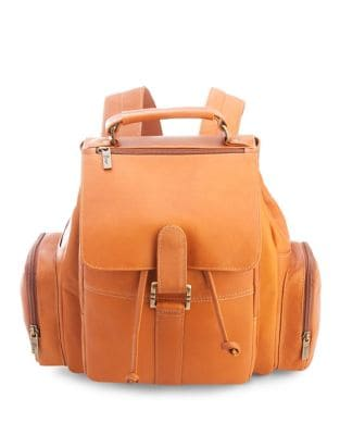 Leather Expandable Backpack...