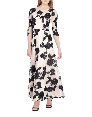 Embroidered Ballet A-Line Dress by Tahari Arthur S. Levine