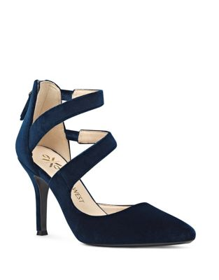 Florent Point-Toe Velvet Pumps by Nine West