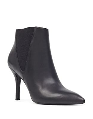 Front Leather Ankle Boots by Nine West