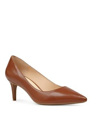 Photo of Soho Leather Pointed Toe Pumps by Nine West - shop Nine West shoes sales