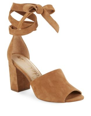 Odele Tansu Ankle-Wrap Suede Sandals by Sam Edelman