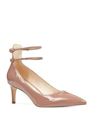 Sawtelle Patent Leather Ankle Strap Pumps by Nine West