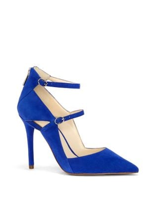 Liviana Ankle-Strap Suede Pumps by Jessica Simpson