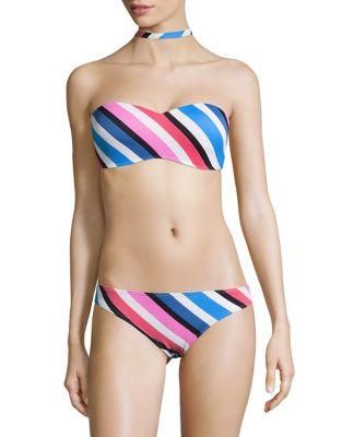 Seaside Choker Bandeau Bikini Top by Design Lab Lord & Taylor