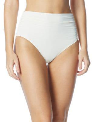 Ruched High-Waist Bikini Bottom by Coco Rave