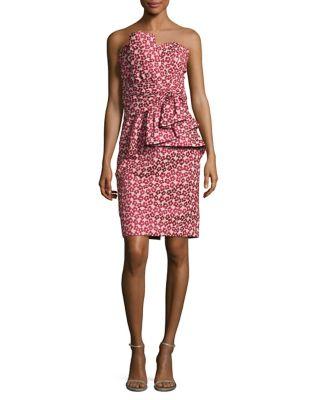 Floral Peplum Style Dress by Badgley Mischka Platinum