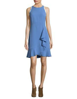 Photo of Ruffled Sleeveless Dress by Shoshanna - shop Shoshanna dresses sales