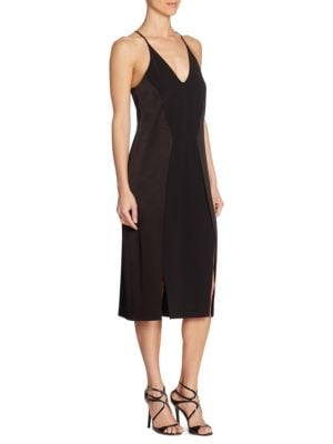 Solid V-Neck Dress by Alex Evenings