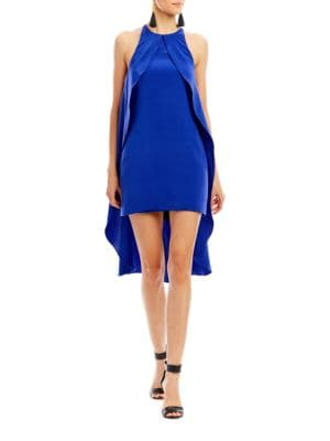 Fiona Ruffle Hilo Shift Dress by Nicole Miller