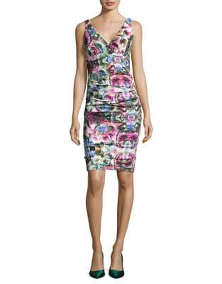 Artelier Krista Mirrored Blossom Dress by Nicole Miller