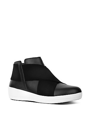 c9af19a867f FitFlop - Superflex TM Leather Ankle Boots - lordandtaylor.com